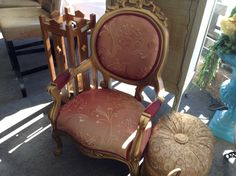 Gold Chair - very nice accent chair.  Item 221-14.  Price $380.00   - http://takeitorleaveit.co/2016/05/03/gold-chair/