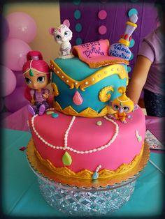 Shimmer and shine cake!