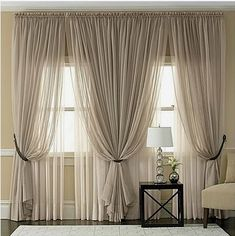 Window Treatments Room - CHECK PIN for Various DIY Window Treatments. 28636367 #windowtreatments #bedroomideas