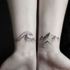 Sea & muntain  ~ #beautifultattoo #ideastattoo #tattoo #tatuaggio #ink #inkmet #love #ocean #waves #sea #muntain
