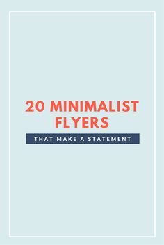 Break through the marketing noise with bold minimalist flyers [with Free Templates]