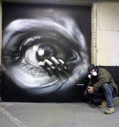 Black and White Eye #streetart