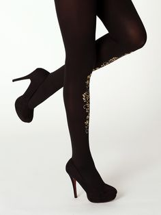 Superb quality golden ornament tights from the Black   Gold Collection by  Virivee!  ). ZoknikCombfixEzüstHarisnya d0ab3fa5f0