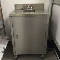 Portable Hand Wash Sink - Stainless Steel - Hot/Cold Water NSF - NEVER USED!