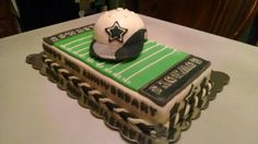 24th anniversary cake for my husband minus the goal posts.