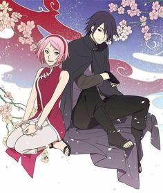 Sasuke and Sakura Uchiha Wallpaper ♥♥♥ #cute #beautiful #couple #love #family