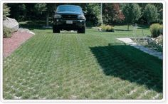 """Grass paving like """"Turf blocks"""" or """"Gobi blocks"""" are a great way to form solid ground for driving or parking on while retaining a nice grassy look. Concrete permeable paving gives a very solid surface while allowing rainwater to pass directly through them. This type of paving is a good option where there are already, visually a lot of hard surface areas to look at. Grass pavers offer a softer look while still retaining a practical area."""