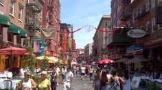 Little Italy, how I adore the fresh cannoli's and tiramisu's they sell on the street corners! :o) YUM!
