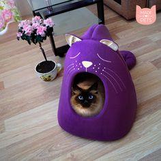 Katze-Haus von MadeForPets auf Etsy https://www.etsy.com/de/listing/271496044/katze-haus