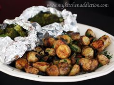 Grilled Potatoes & Broccoli Packets - I have one of these grill pans and have never used it. Maybe I should give it a try?