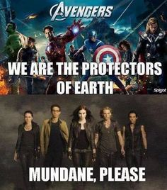 LOL^*^ although I do love TMI, I think at least one of the Avengers would have solved any of TMI's plot twists