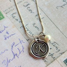 Personalized Wax Seal Initial Necklace