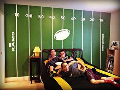 Football Field Wall Kit #2 - SMALL KIT - for Sports Fans by liveoakpro on Etsy https://www.etsy.com/listing/20109438/football-field-wall-kit-2-small-kit-for