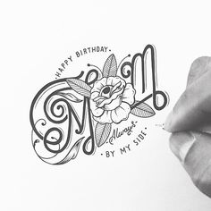 Various Typography Sketches for January and February 2015