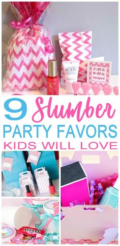 f46c37f44543 Coolest slumber party favor ideas that kids will love. Check out cool goodie  bags