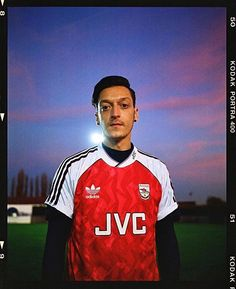 "8107ec74498 Football Shirt Collective on Instagram: ""Mesut Özil doing his best Anders  Limpar in the 1991 Arsenal x Adidas home shirt 📷 @antimax"""