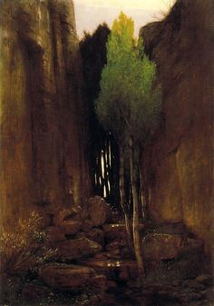 "Arnold Böcklin, ""Source between two Rock Walls,"" 1881, oil on canvas"