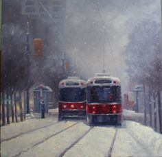 Toronto Streetcars in January catherinejeffreystudio.com