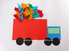 Simple craft for preschoolers, great for community helper theme School Community, Community Workers, My Community, Preschool Transportation Crafts, Preschool Activities, Preschool Crafts, Transportation Unit, Kids Crafts, Creative Activities
