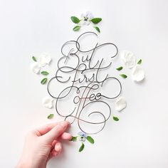 Creative Handlettering, Paper, Lettering, and Coffee image ideas & inspiration on Designspiration Calligraphy Letters, Typography Letters, Coffee Typography, Food Typography, Modern Calligraphy, Types Of Lettering, Lettering Design, Logo Design, Inspiration Typographie
