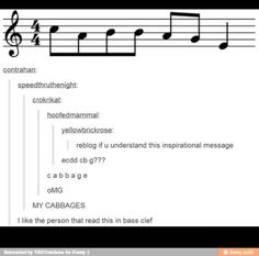 i like the person that read this in bass clef :)      (even though the treble clef is there....)