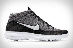 NIKE FLYKNIT CHUKKA GOLF SHOE $190 | Bring a touch of street fashion to the course with the Nike Flyknit Chukka Golf Shoe. The first golfing shoe to use the lightweight, form-fitting upper, it also has Flywire technology for added support and improved lockdown, and a Nike...