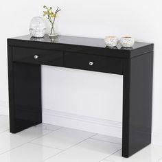 Retro foot stool dressing table chair vintage seat ottoman modern wooden legs vintage - Modern black dressing table ...
