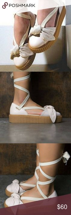 newest 8e8e1 356b0 Shop Women s Puma Cream size 7 Sandals at a discounted price at Poshmark.  Summer is coming!
