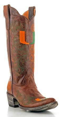 Womens University Of Miami Boots | MIA-L061-1 | GameDayBoots