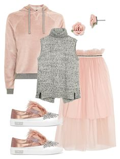 """Juxtaposition"" by christawallace ❤ liked on Polyvore featuring Mother of Pearl, Topshop, 1928, Miu Miu and Fat Face"