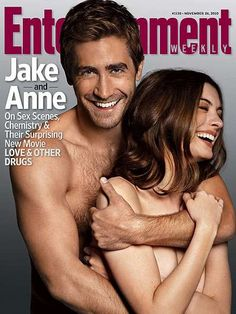 Jake Gyllenhaal and Anne Hathaway Pose for Entertainment Weekly