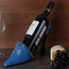 Detroit Lions High Heel Shoe Bottle Holder - Light Blue