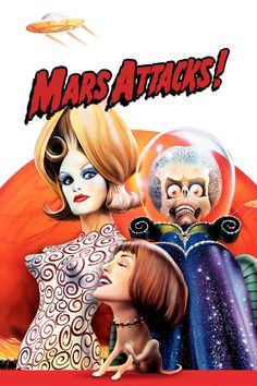 Mars Attacks! movie poster - #poster, #bestposter, #fullhd, #fullmovie, #hdvix, #movie720p'We come in peace' is not what those green men from Mars mean when they invade our planet, armed with irresistible weapons and a cruel sense of humor.  This star studded cast must play victim to the alien's fun and games in this comedy homage to science fiction films of the '50s and '60s.
