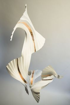 Richard Sweeney - Quatre in Motion. Paper, adhesive and copper leaf.
