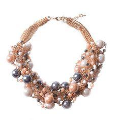 TQS™Heirloom Chunky Cluster Pearls Multi Strands Bub…