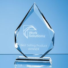Clear Class Facetted Diamond Peak Award3 Sizes