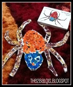 We already did a spider craft some time ago using cardboard egg carton. But there's never too many a time in doing crafts right, what's mo. Insect Crafts, Bug Crafts, Crafts To Do, Preschool Crafts, Preschool Ideas, Craft Ideas, Spider Book, Spider Art, Spider Crafts
