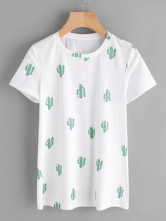 Shop Allover Cactus Print Tee online. SheIn offers Allover Cactus Print Tee & more to fit your fashionable needs.
