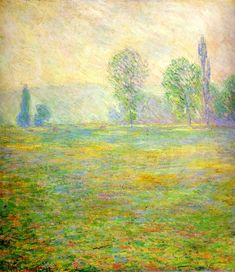 Meadows in Giverny by @claude_monet #impressionism