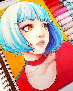 Ghost again ー my life will never change I guess, but inspiration comes so suddenly! Especially when this tempting new Marker Kunst, Copic Marker Art, Copic Art, Copic Markers, Cartoon Kunst, Anime Kunst, Cartoon Art, Anime Art, Art And Illustration