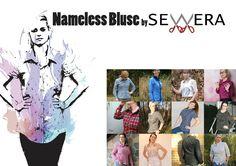 Oberteile & Jacken - Nameless Bluse Schnittmuster und Anleitung Sewera - ein Designerstück von sewerafashion bei DaWanda