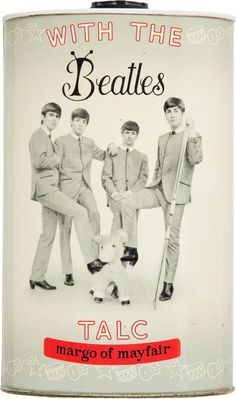 The Beatles talcum powder, 1964---Yet another thing I missed back then!!! :-((((   {GM}