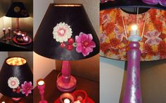 Table-lamp with flowers