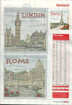 cross stitch london/rome