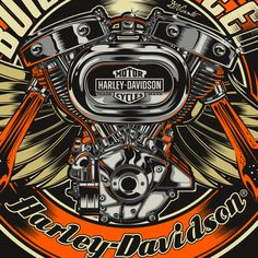 Harley-Davidson - USA by DAVID VICENTE, via Behance