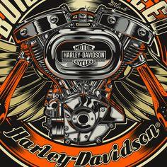 Harley-Davidson - USA by DAVID VICENTE, via Behance