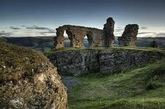 Castell Dinas Bran....just hiked up a mountain to see the ruins of this castle at sunset one evening in Wales...nbd.
