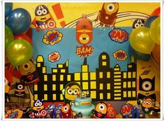 Minions superhero Birthday Party Ideas | Photo 1 of 24 | Catch My Party