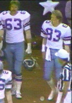 GLEN TITENSOR (63) and DOUG DONLEY (83)--October 18, 1981 Cowboys 4, Dallas Cowboys, Tom Landry, Image Search, October, Fictional Characters, Football, Soccer, Futbol