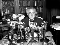 President Franklin Delano Roosevelt Giving Radio Address 11/4/1938-Hyde Park, NY: Portrait of President Roosevelt as he spoke during a radio broadcast from his Hyde Park home, the night of Nov. 4. In his speech, the President called upon the nation's voters to elect New Deal candidates, ❤❁❤❁❤❁❤❁❤   en.wikipedia.org/wiki/Franklin_D._Roosevelt    http://www.fdrlibrary.marist.edu/education/resources/biographies.html    http://www.fdrlibrary.marist.edu/